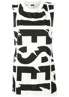 Diesel logo print vest top