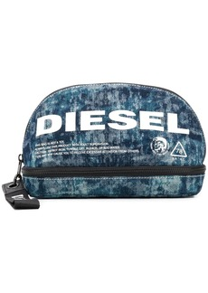 Diesel logo print wash bag