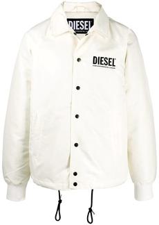 Diesel logo print wind breaker jacket