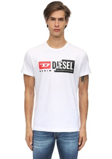 Diesel Logo Printed Cotton Jersey T-shirt