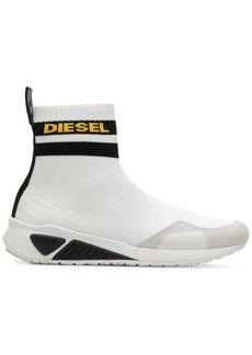Diesel logo sock boot