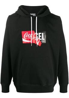 Diesel x Coca-cola logo stamp hoodie