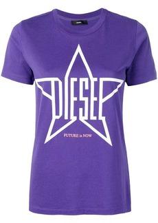 Diesel logo star print T-shirt