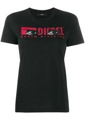 Diesel logo eye print T-shirt