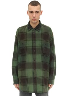 Diesel Long Check Cotton Workwear Shirt Jacket
