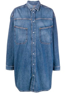 Diesel long denim shirt