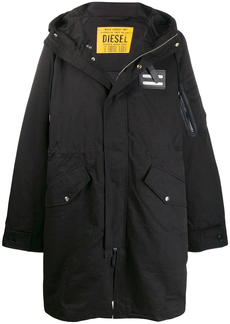 Diesel long hooded coat