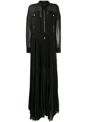 Diesel long pleated shirt dress