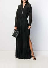 Diesel long pleated shirt dress