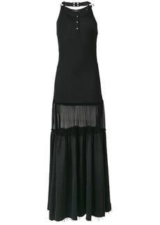 Diesel maxi panelled dress