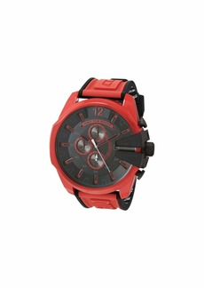 Diesel Mega Chief Chronograph Red Silicone Watch