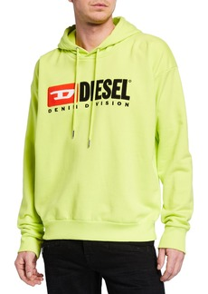 Diesel Men's 90s Denim Division Hoodie Sweatshirt
