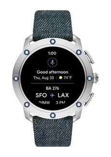 Diesel Men's Axial Denim Strap Smartwatch, 48mm