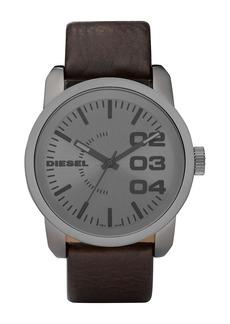 Diesel Men's Double Down Leather Strap Watch, 54mm x 46mm