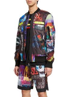 Diesel Men's J. Enka Print Bomber Jacket