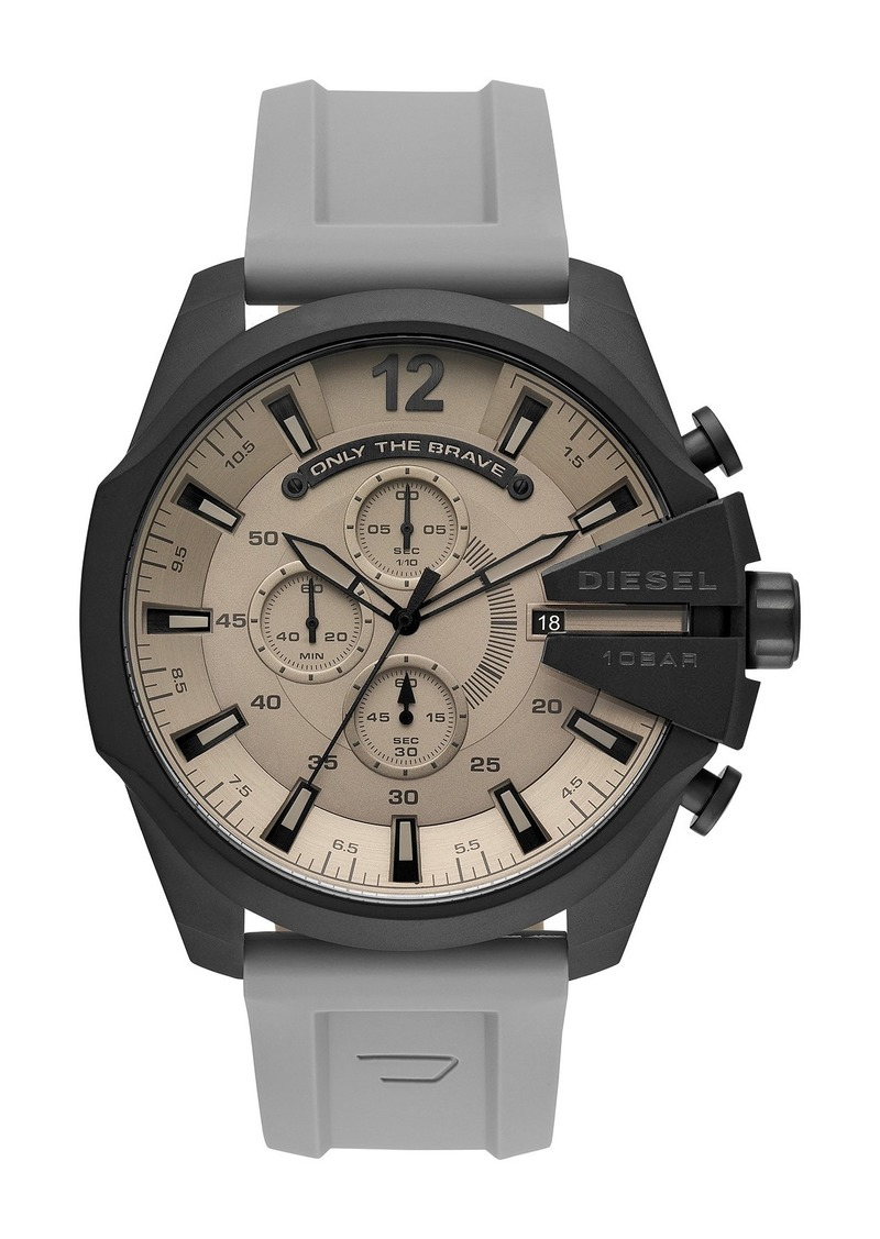 Diesel Men's Mega Chief Chronograph Silicone Strap Watch, 51mm