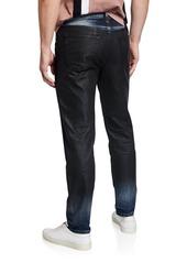 Diesel Men's Mharky Slim Coated Denim Jeans