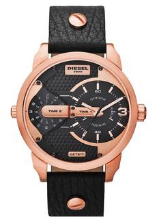 Diesel Men's Mini Daddy Leather Strap Watch, 46mm