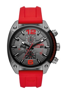 Diesel Men's Overflow Chronograph Silicone Strap Watch, 49mm x 55mm