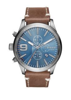Diesel Men's Rasp Chrono Leather Strap Watch, 50mm