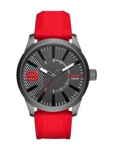 Diesel Men's Rasp Silicone Strap Watch, 46mm