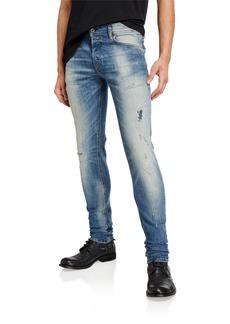 Diesel Men's Sleenker DK Skinny Distressed Jeans