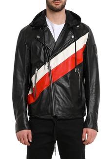 Diesel Men's Solove Striped Leather Jacket