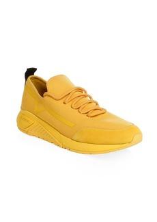 Diesel Mesh & Suede Sneakers