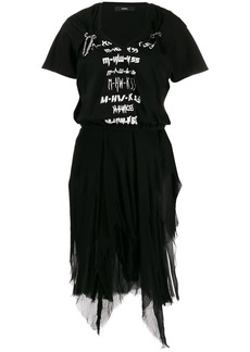 Diesel mesh graphic tutu dress