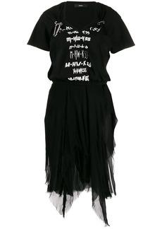 Diesel mesh graphic tutu dress