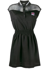 Diesel mesh panelled polo dress