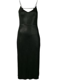 Diesel Metal-foil slip dress