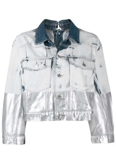 Diesel metallic-coated denim trucker jacket