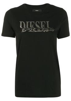 Diesel metallic foil logo T-shirt