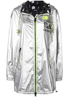 Diesel metallic jacket with fluorescent accents