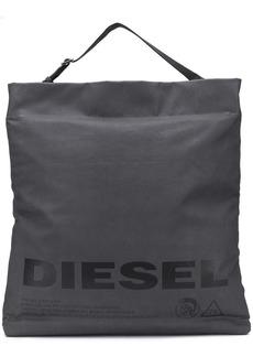 Diesel metallic shopping tote