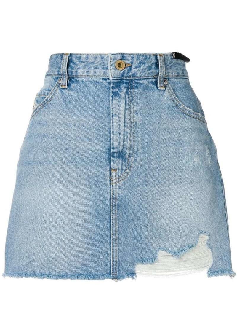 Diesel mini denim skirt