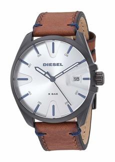 Diesel MS9 Three-Hand Leather Watch DZ1903