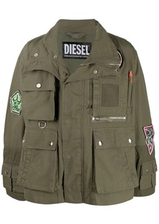 Diesel multi-patch military jacket