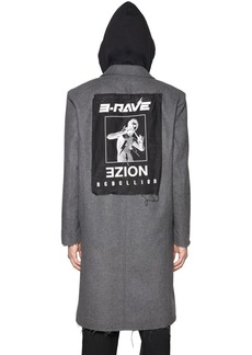Diesel Noize Hooded Wool Cloth Coat