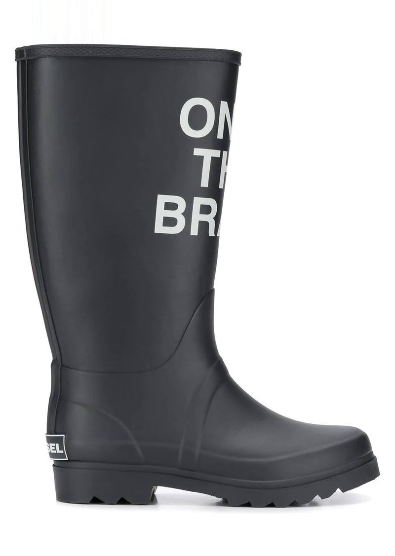 Diesel Only The Brave print boots