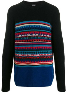 Diesel Only The Brave striped jumper