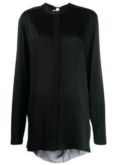 Diesel open-back draped shirt