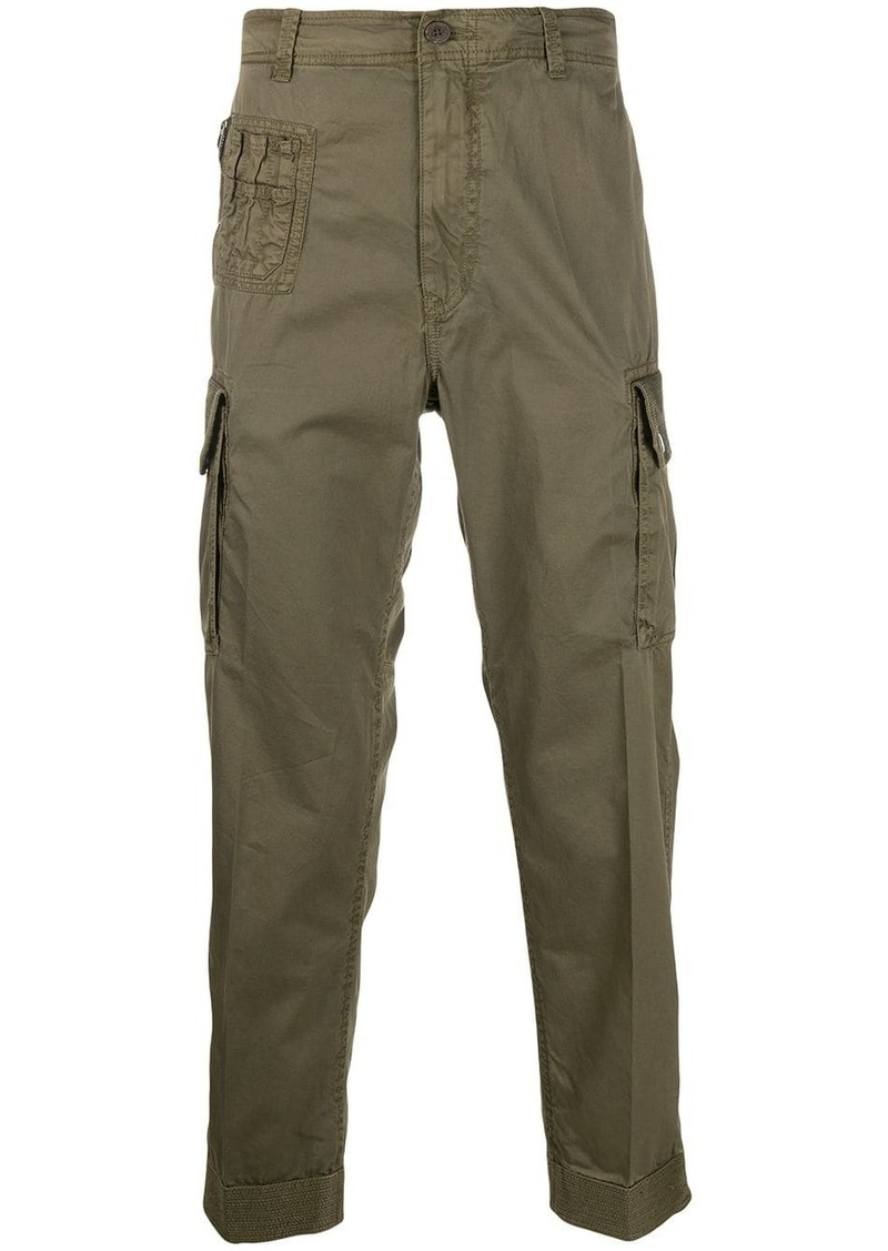 Diesel overdyed cargo trousers