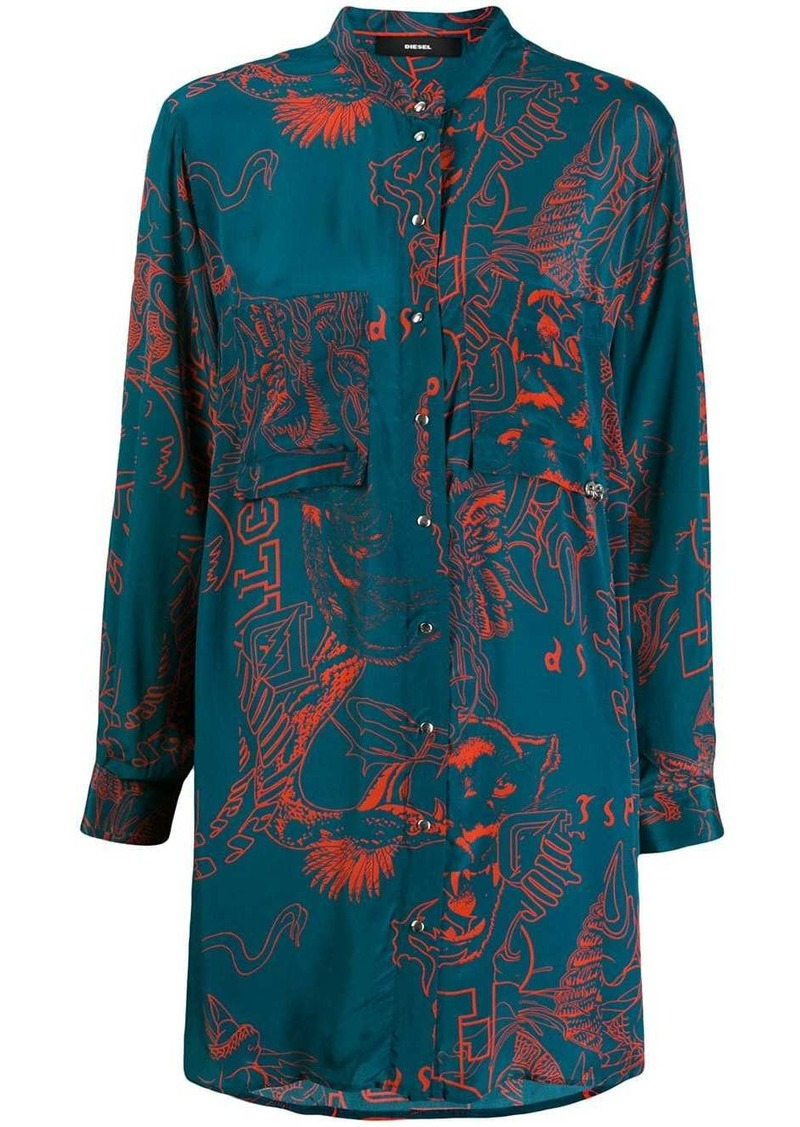 Diesel oversized embroidered shirt