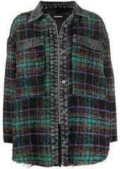 Diesel oversized plaid shirt jacket