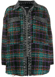 Diesel oversized plaid shirt jacket