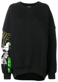 Diesel oversized printed sleeve sweatshirt