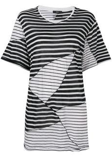 Diesel oversized striped T-shirt