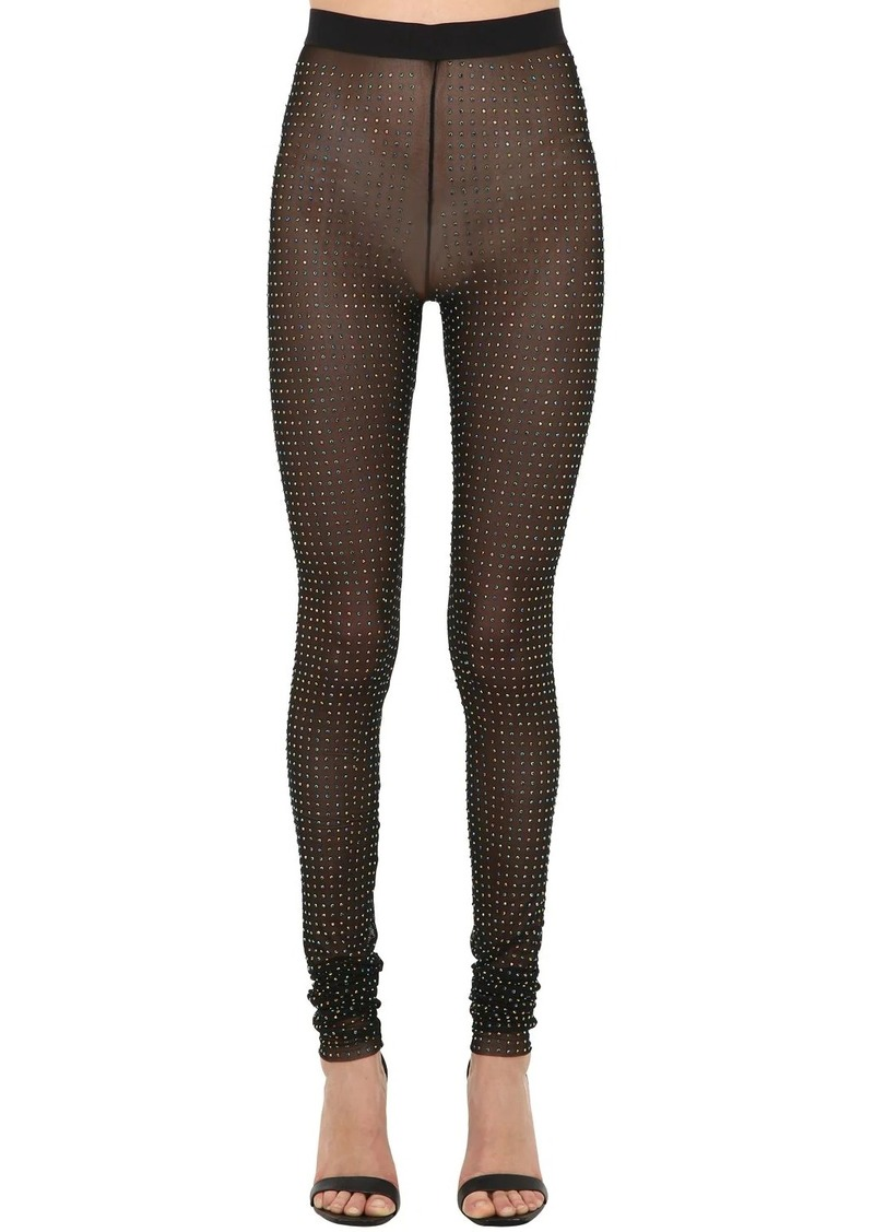 Diesel P-asrin Embellished Sheer Leggings